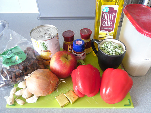 Fruity Yellow Chicken Curry Ingredients