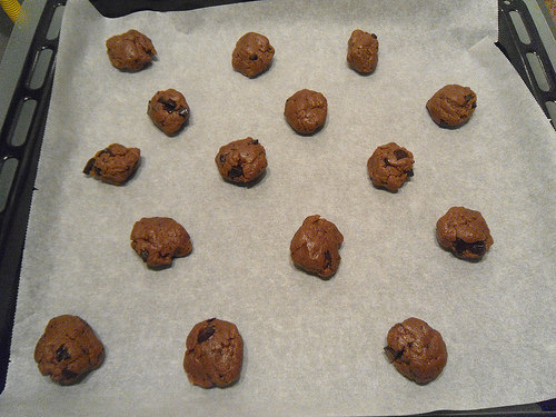 Hazelnut Paste Cookies before oven