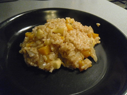 Pumpkin and Apple Risotto close-up