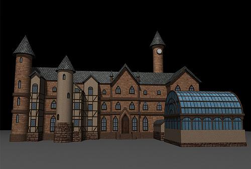 3D rendering of the school