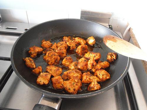 Baking the chicken