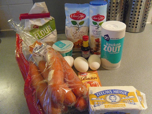 Carrot Souffle ingredients