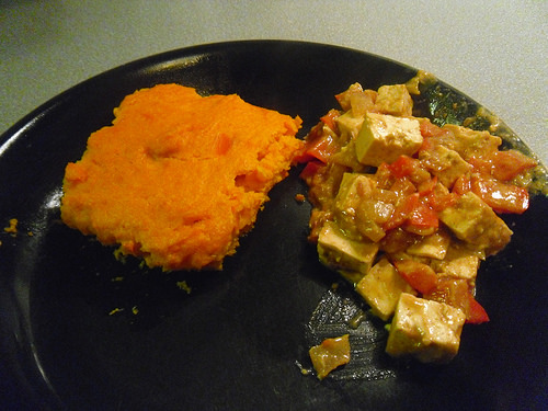 Carrot Souffle with Tofu