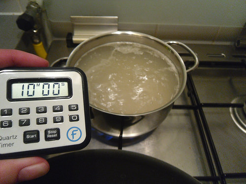 Cooking the rice
