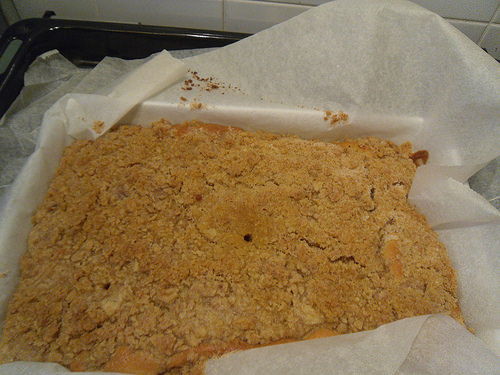 Crumb cake after oven