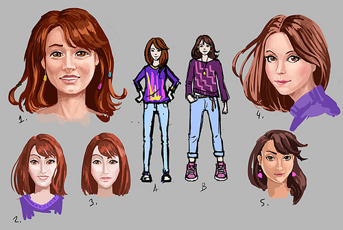 Early Amanda concept drawings