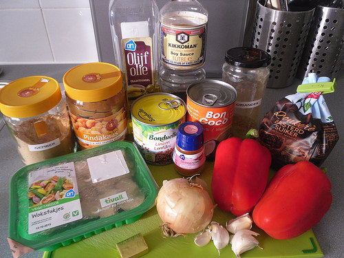 Lentils and Veggies in Peanut Sauce Ingredients