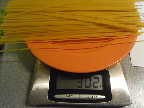 Measuring the pasta