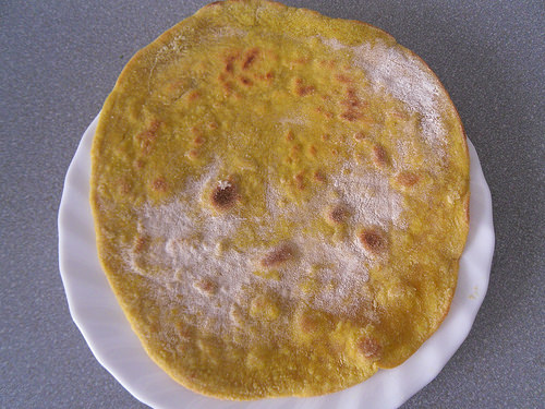 Naan on plate