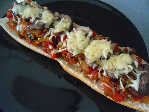 Pizza Bread with Champignon