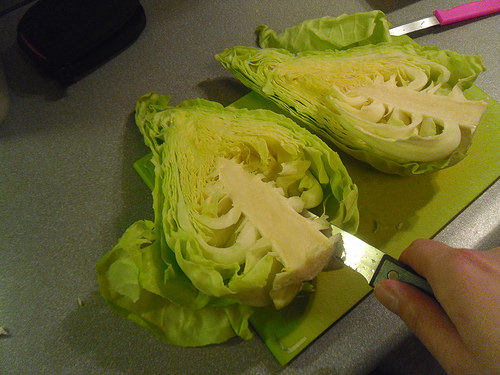 Slicing the Pointed Cabbage