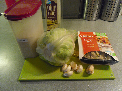 Spiced Pointed Cabbage Ingredients