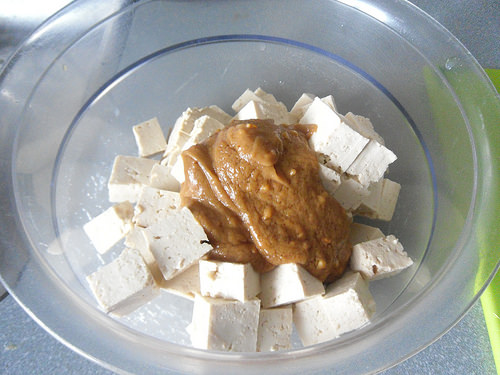 Tofu with dip