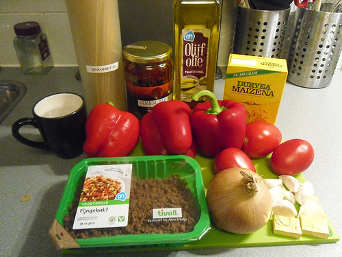 Tomato Sauce Pasta Ingredients