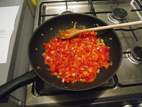 Vegetables baking