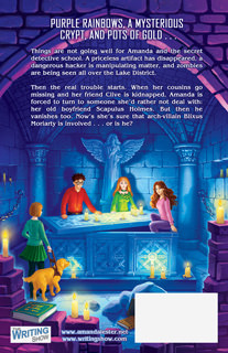 back cover Amanda Lester and the Purple Rainbow Puzzle