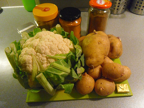 ingredients cauliflower mash