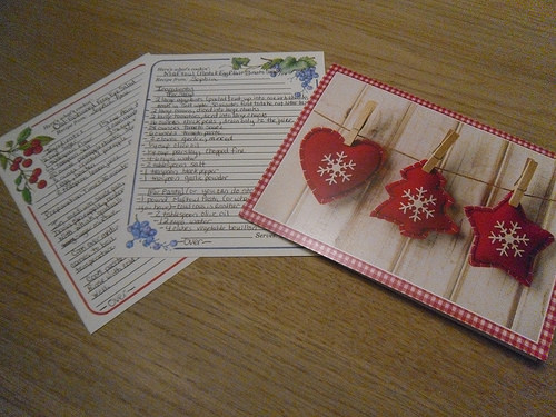 Christmas card and recipes by Sophia