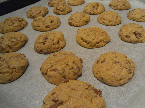 Peanut Butter cookies on sheet