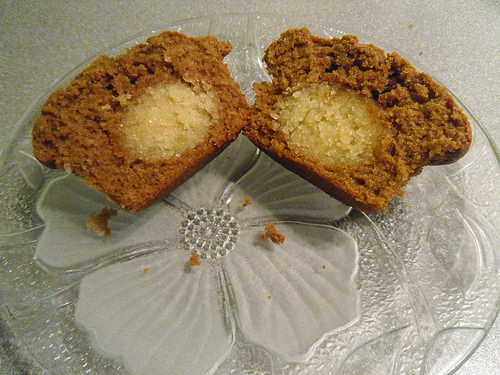 Speculaas Muffin inside