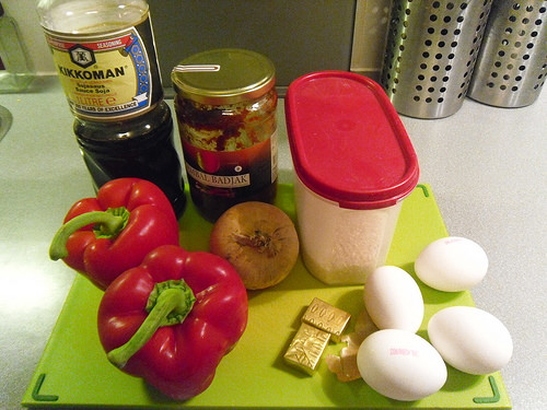 Risotto-with-soy-sauce-and-egg-Ingredients