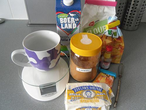 Cinnamon Mug Cake Ingredients