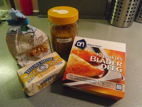 Cinnamon Sugar Puff Pastry Twisters Ingredients