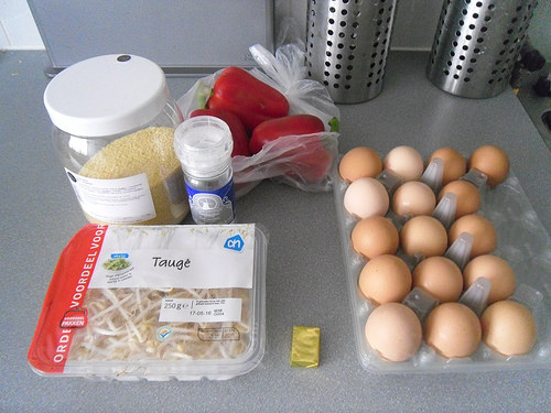 Couscous-with-veggies-and-egg-Ingredients