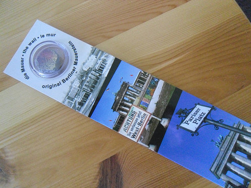 Berlin Wall bookmark