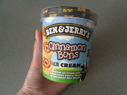 Cinnamon Buns Ben and Jerry