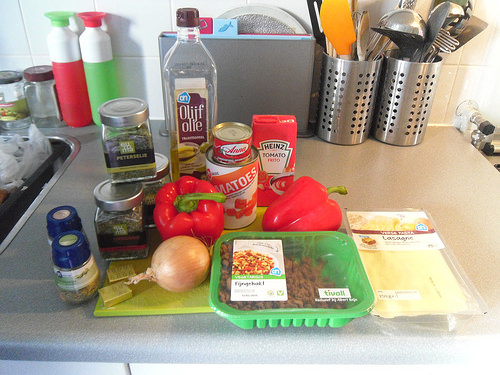 Lasagna Soup ingredients