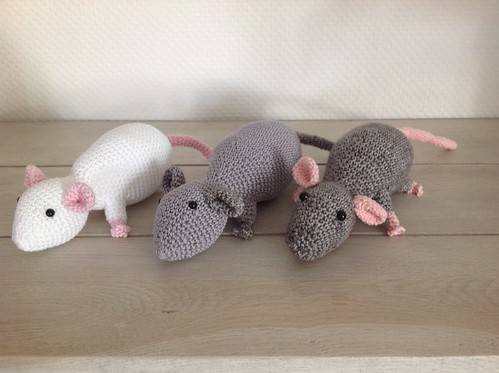 Rats crocheted