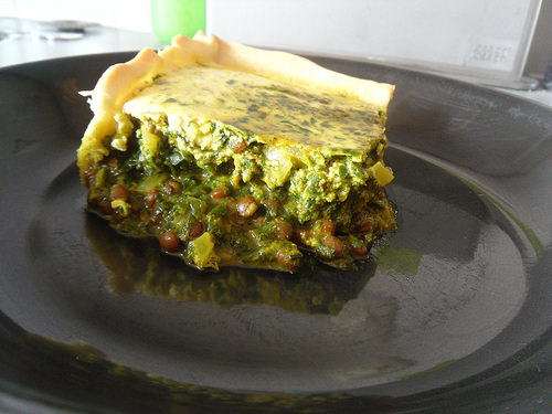 Spinach Masala Quiche