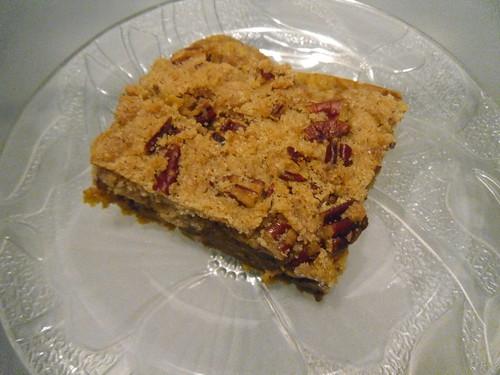 Vegan Pumpkin Crumble Cake close up