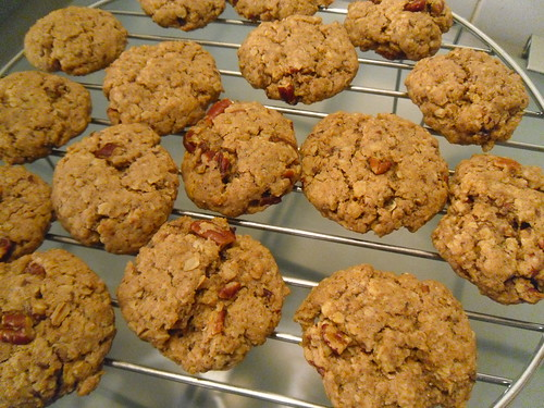 Oat Cookies with Nutmeg, Cinnamon and Pecans