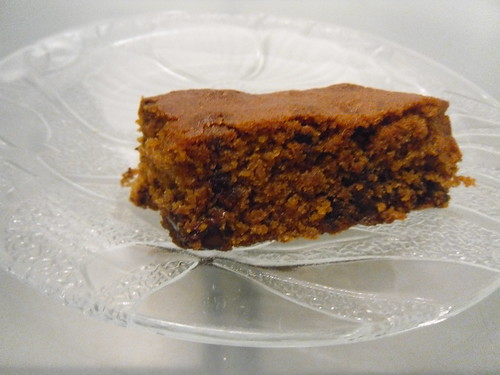 Blondies with Chocolate Chips close up