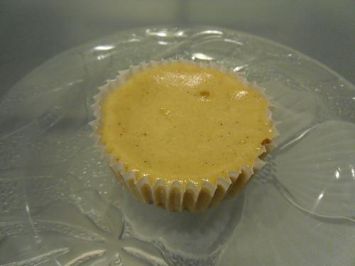 White Chocolate Mini Cheesecake close up